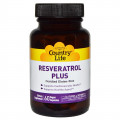 Ресвератрол (Resveratrol Plus), Country Life, 60 капсул