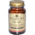 Рибофлавин, Solgar, 100 мг, 100 капсул