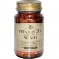 Рибофлавин, Solgar, 50 мг, 100 таблеток