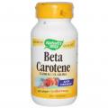 Бета каротин, Nature s Way, 100 капсул