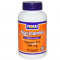 Витамин В3, Now Foods, 500 мг, 100 капсул