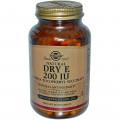 Сухой Витамин Е, Solgar, 200 МЕ, 100 капсул