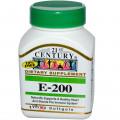 Витамин Е- 200, 21st Century Health Care, 110 кап.
