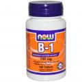 Тиамин, Now Foods, Витамин В1, 100 мг, 100 таблеток