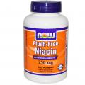 Витамин В3, Now Foods, Ниацин, 250 мг, 180 кап.