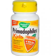 Примадофилус ( пробиотики )  для детей в форме жевательных таблеток с апельсиновым вкусом