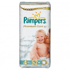 Подгузники Pampers Premium Care 4 Maxi (7-14кг) 52шт