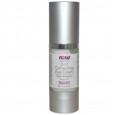 Корректирующий крем для кожи вокруг глаз, Now Foods, (30 мл)