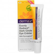 Крем от темных кругов под глазами, Derma E, (14 г)