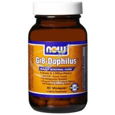 Пробиотики Gr8 дофилус 60 капсул - NOW Foods