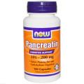 Панкреатин, Now Foods, 10X 200 мг, 100 капсул