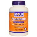 Панкреатин, Now Foods, 10X 200 мг, 250 капсул