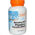 Бетаина гидрохлорид + пепсин, Doctor's Best, 120 капс.