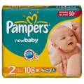 Подгузники Pampers New Baby Mini 2 (3-6 кг) 108шт