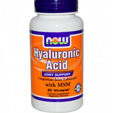 Гиалуроновая Кислота с МСМ(Hyaluronic Acid With MSM) 60 капс.