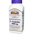 21st Century Health Care, L-Arginine (Л- аргинин)  1000 mg, 100 капсул