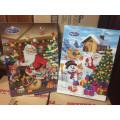 Адвент - календарь (Рождественский календарь) из 24 молочных шоколадных фигурок  50г