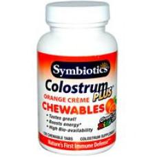 Колострум Молозиво Symbiotics, Colostrum Plus, Orange Crème,  120 жевательный таблеток